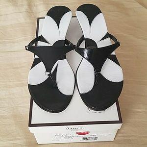 Coach - Black sandals